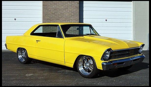 1967 Chevrolet Nova 350 CI, Automatic yellow car