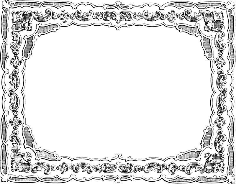 Free Clip Art - Vintage Fancy Border - http ...