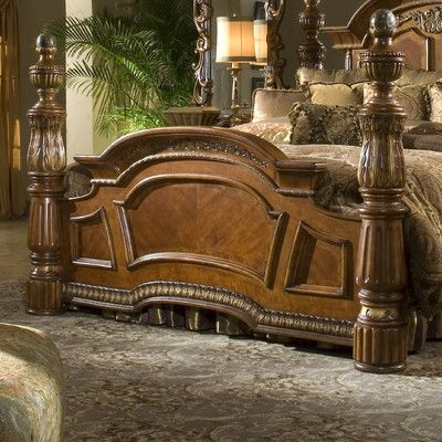 Michael Amini Excelsior Collection Bedroom Villa Valencia Four Poster Close Up Of 4 Bed Cherie