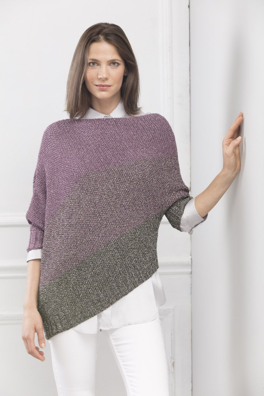 Knitting Crochet Celine Asymmetrical Pullover Majestic In xFaU4nq