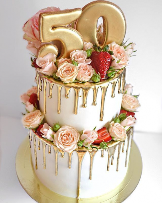 Gut Aussehend Bei 65 Kg D To 50 50th Birthday Cake For Women 50th Birthday Cake Birthday Cakes For Women