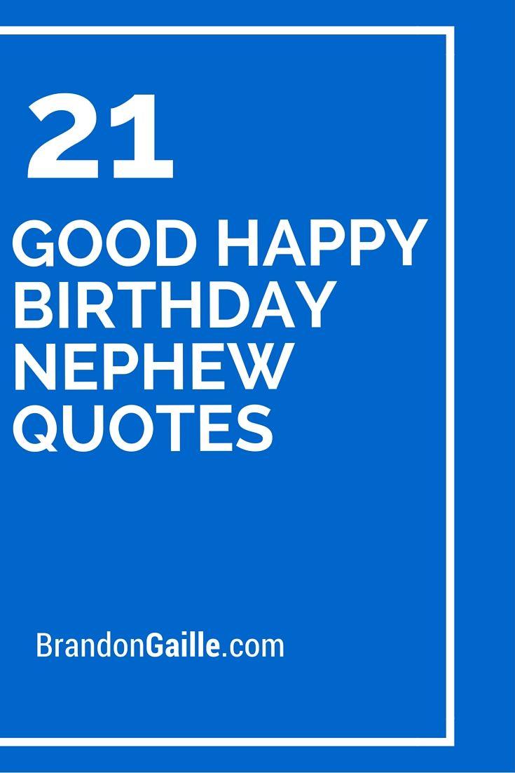 21 Good Happy Birthday Nephew Quotes With Images Happy