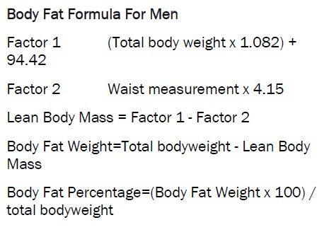 Total Body Fat Calculator
