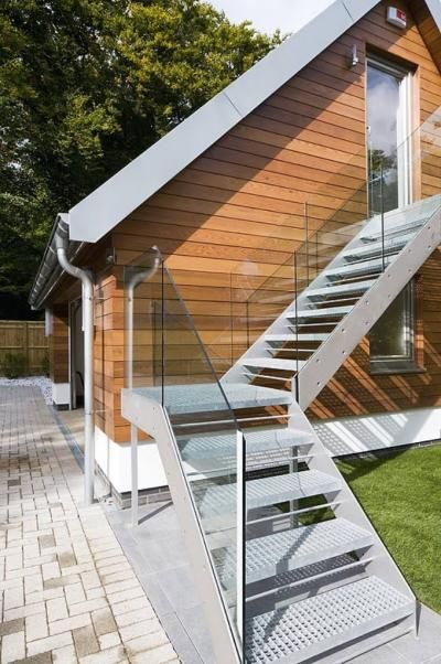 Pin On External Staircases   Staircase Outside House Design   Bungalow   40X30 House   Duplex   Landscape   Exterior