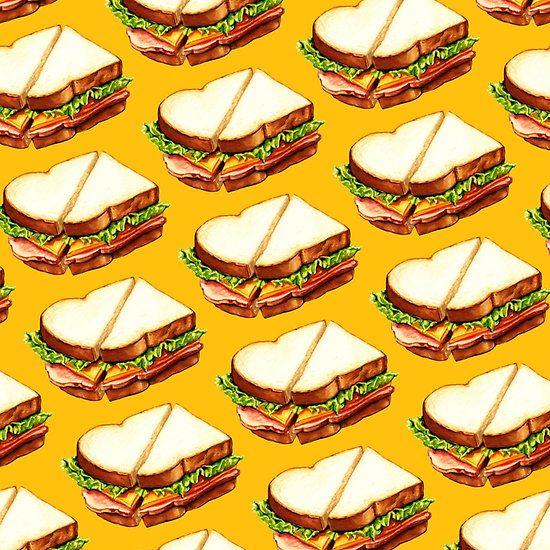 Ice Cream Sandwich Wallpaper: Ham Sandwich Pattern