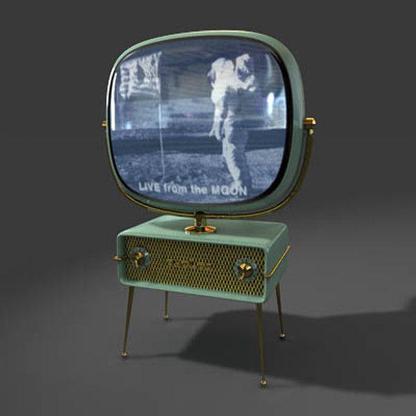 Tv Television 3d Model Vintage House Vintage Television Vintage Tv