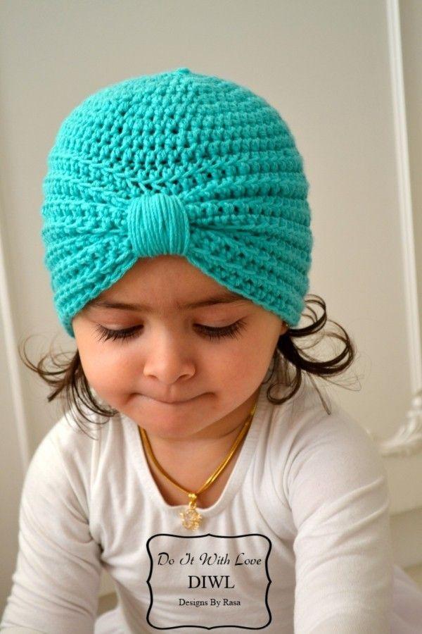 Baby Kinder Turban Style Mütze Häkelanleitung Turbane Pinterest