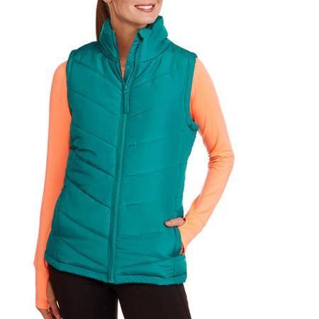 Womens Puffer Vest Walmartcomon Red And Black Plaid Black