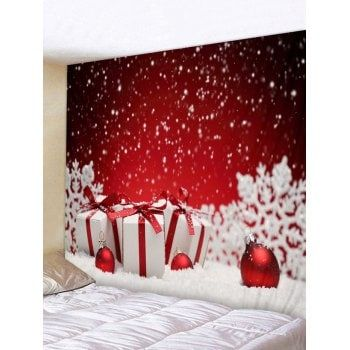 9b84c4f0928 Free shipping 2018 Snowy Christmas Gifts Print Tapestry Wall Art RED W INCH  L INCH under  21.03 in Wall Tapestries online store. Best Printed Throw  Blanket ...