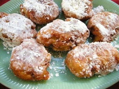 Yum....apple fritters...she's got to be referring to the ...