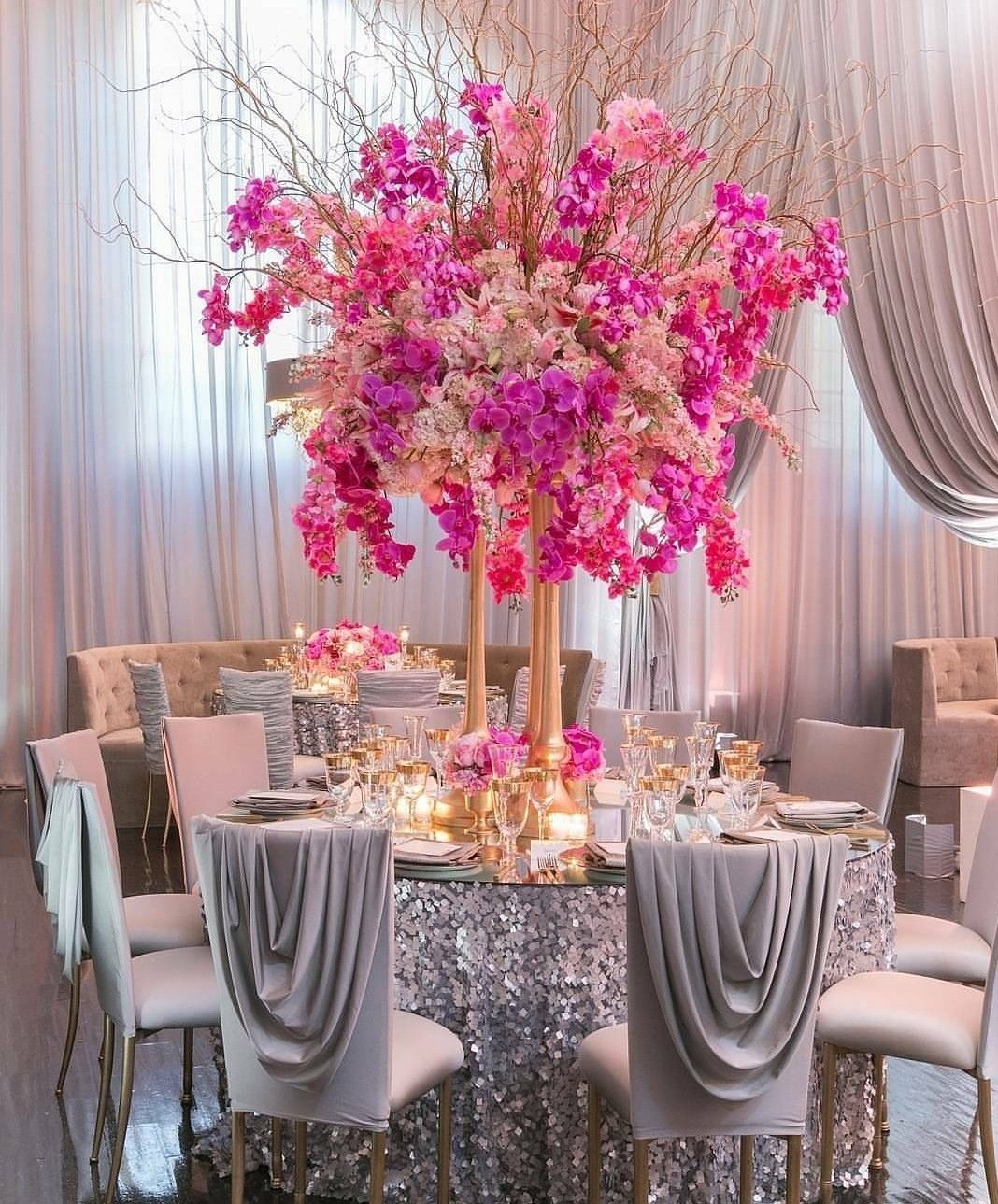 Wedding dinner table decoration dinner reception sequin table cloth gold instead  for wedding