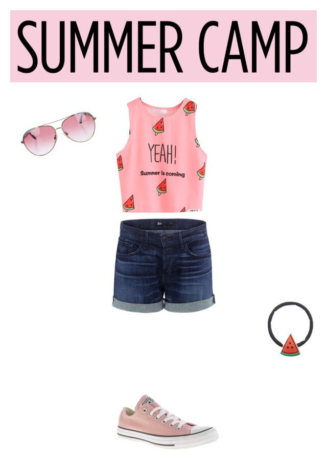 """""""🍉🍉🍉🍉🍉"""" by asdfghjkl0024 ❤ liked on Polyvore featuring 3x1, WithChic, Converse, Minnie Rose, summercamp and 60secondstyle"""