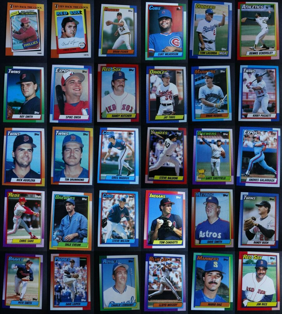 1990 topps baseball cards complete your set you pick from