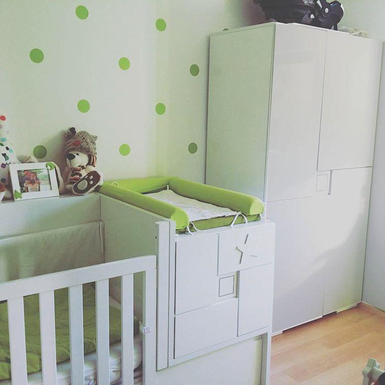Cuna convertible y armario CLIP para niño y niña. Con detalles ...
