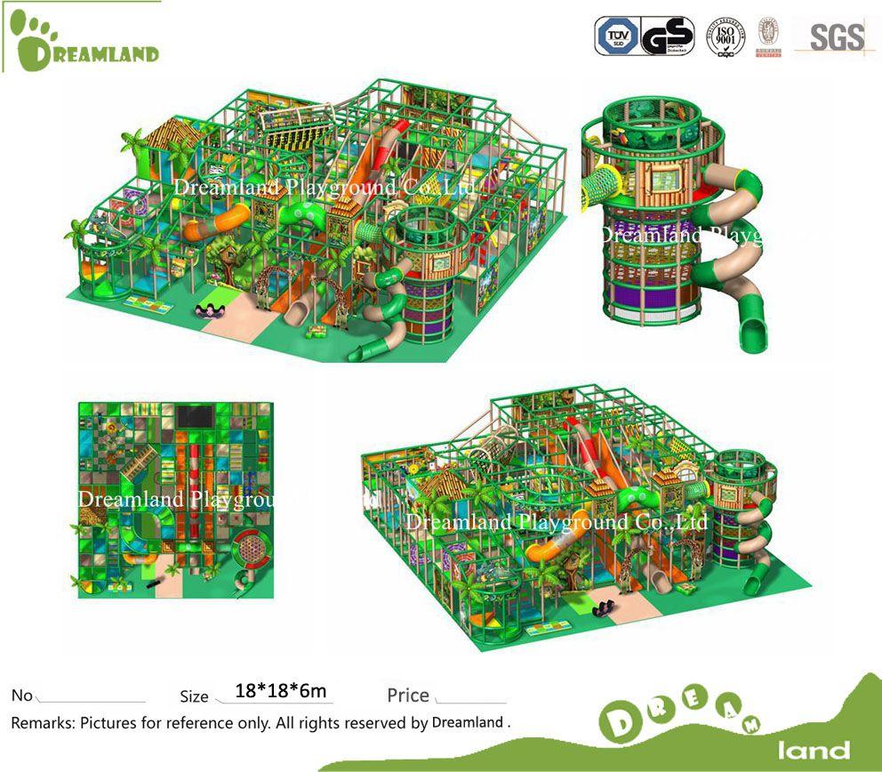 EU Standard Commercial Jungle Theme Kinder Indoor Spielplatz ...