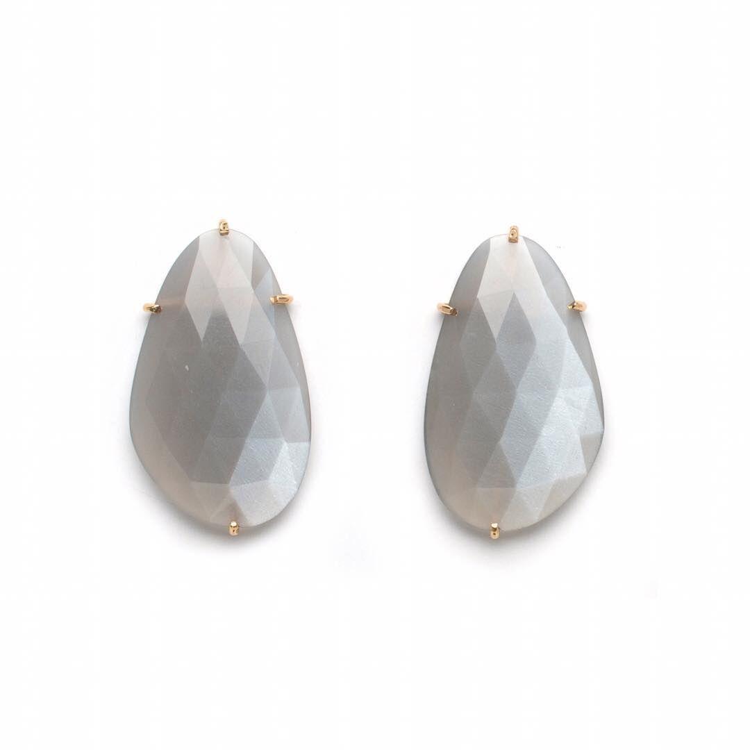 JPJ ROSE CUT MOONSTONE Earrings found on janepopejewelry.com