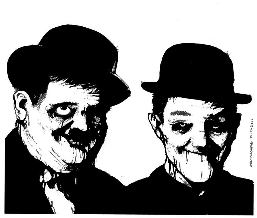 Undead Laurel and Hardy by ~NeilMcClements on deviantART