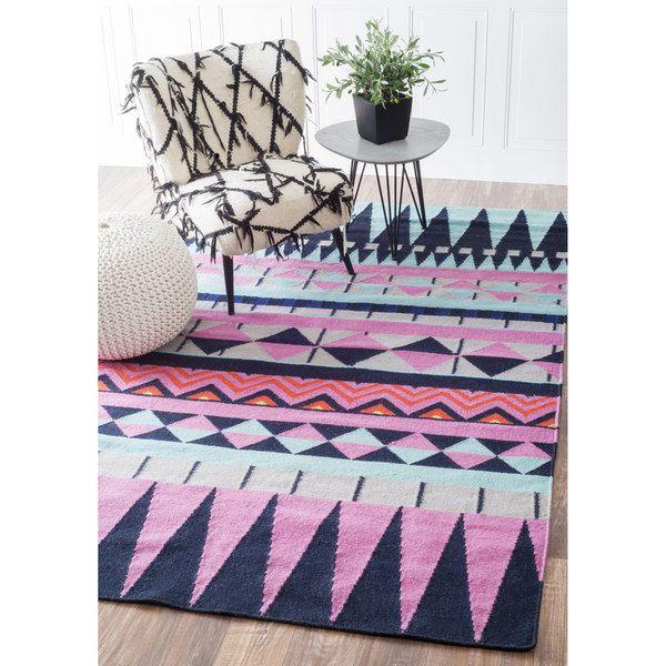 nuLOOM Southwestern Flatweave Wool Multi Rug (5u0027 x 8u0027) by Nuloom