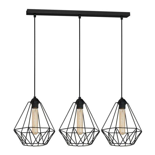 Lampa Wiszaca Luminex Basket New 3 X 60 W E27 Black Lampy Wiszace Pendant Lamp Black Pendant Lamp Lamp