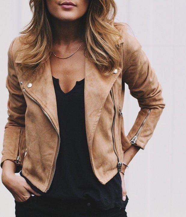 Short leather jacket pinterest
