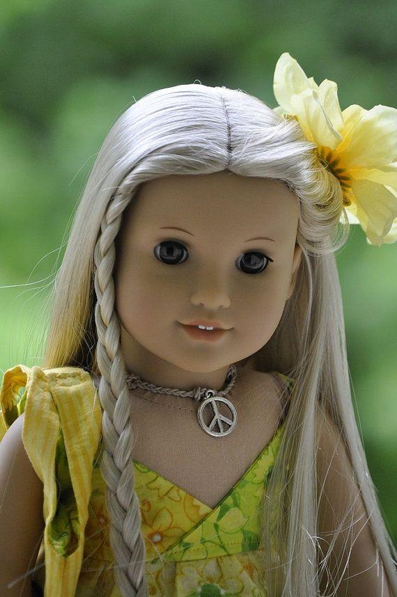 American Girl Doll Julie Ivy Sun Dress Sandals Necklace