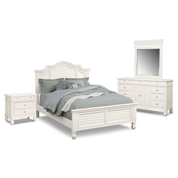 The Plantation Cove White Panel Collection Value City Furniture