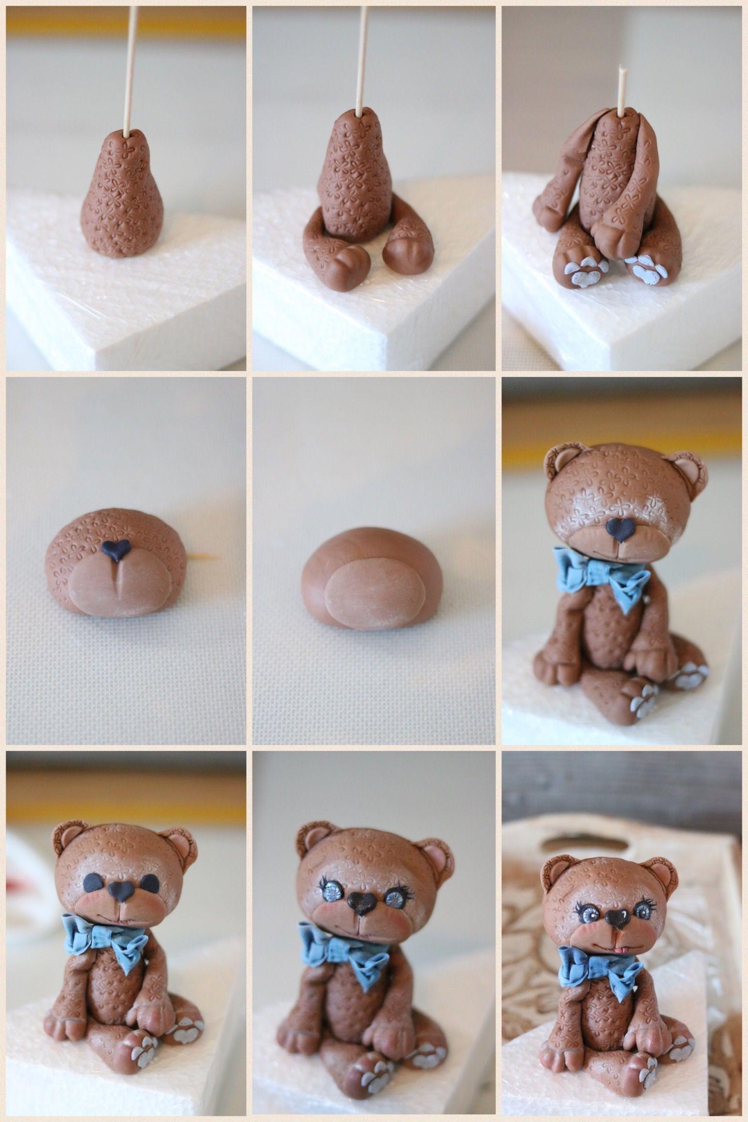Anleitung für Teddybär aus Fondant Monika Triebenbacher