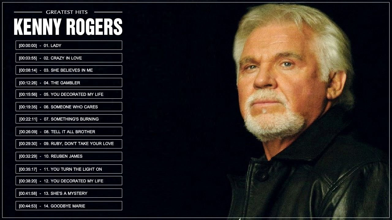 Kenny Rogers Greatest Hits Top 30 Songs 1 Hour 7 Minutes ...