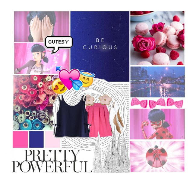 """""""pretty powerful marinette!"""" by hellokayli ❤ liked on Polyvore featuring art"""