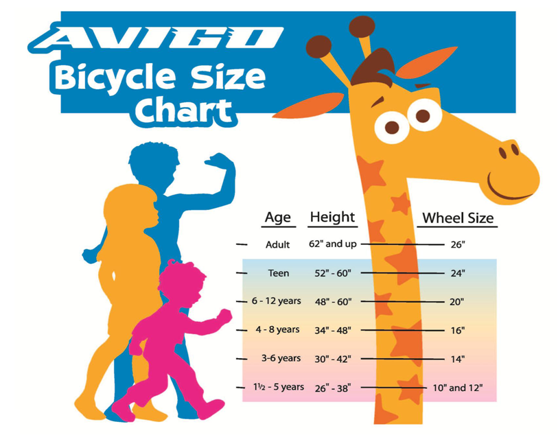Bike Size Chart For Kids Bike size chart Presents