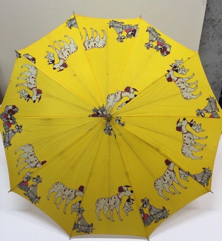Vintage Disney Umbrella 101 Dalmatians Lady And The Tramp Dogs Yellow Child S Tramp Dog Umbrella Vintage Disney