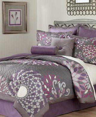 Pem America Bloom Purple Lavendar King Comforter Set By