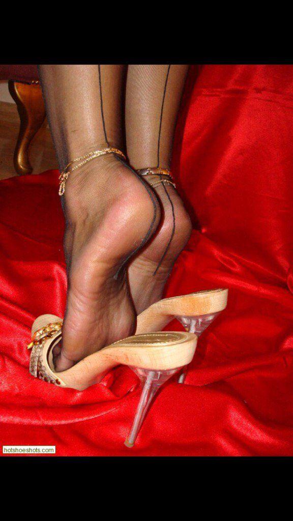 shoeplay stockings Highheel pumps sexy