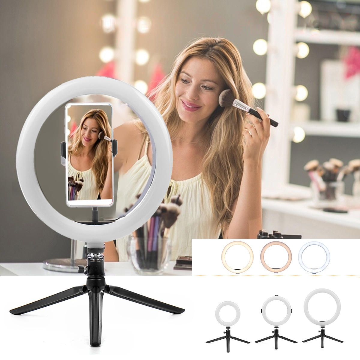 Beleuchtung Fotografie Handyhalter Lampe Led Light Makeup Products Makeup Ring Ringlicht Selfie Stativ Selfie Ring Light Camera Lamp Led Ring Light