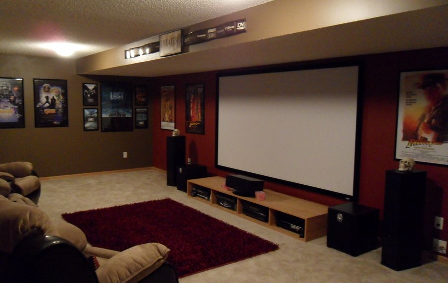 Basement Home Theater Family Room #basement #hometheater