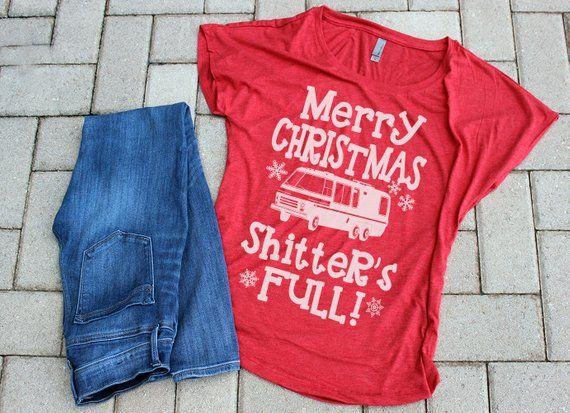 Merry Christmas Shitter was full funny christmas shirt for women