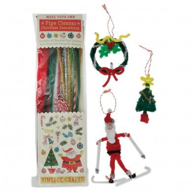 Make Your Own Pipe Cleaner Christmas Decorations Craft Kit Holiday - christmas decorations sale