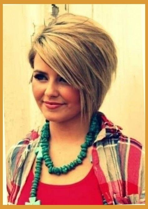 Short Haircuts For Fat Round Faces Pertaining To Warm Hairstyles
