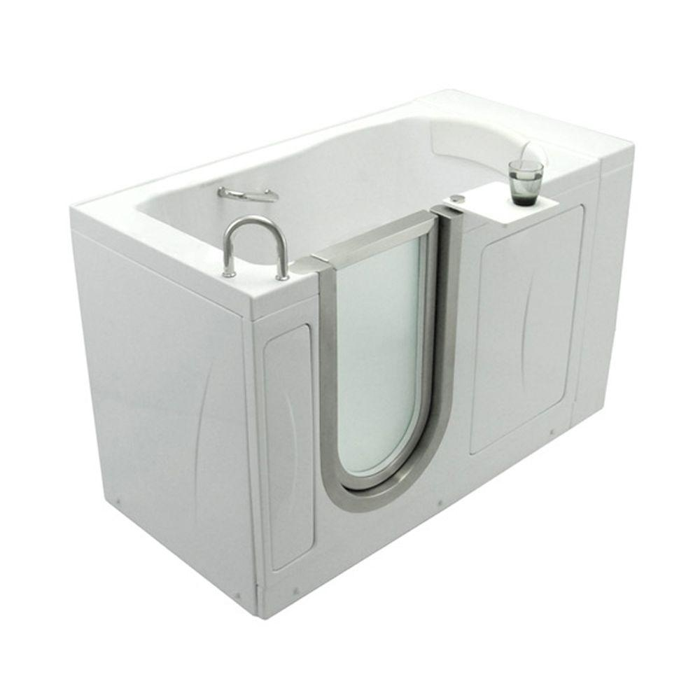 Ella Elite 4 33 Ft X 30 In Acrylic Walk In Soaking Bathtub In