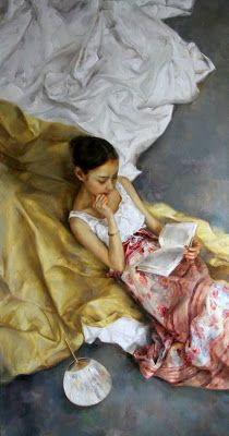 Reading . Zhao Kailin (born 1961 in Bengbu (Anhui), China)
