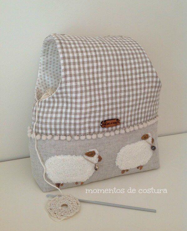 7cf2f4bd1 Bolsa para guardar las labores de crochet | conejita | Costura ...