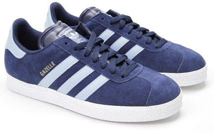 84c19d979f6b Adidas Gazelle 2 Dark Indigo with Argentina Blue stripes and White soles