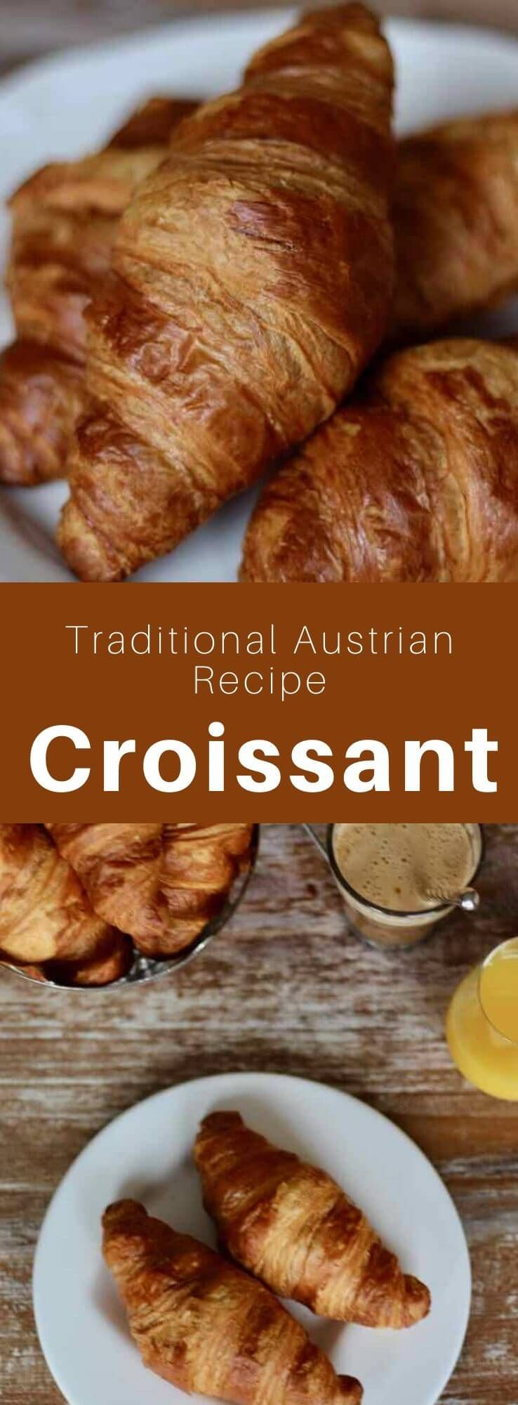 The croissant is a pastry made with leavened puff pastry ...