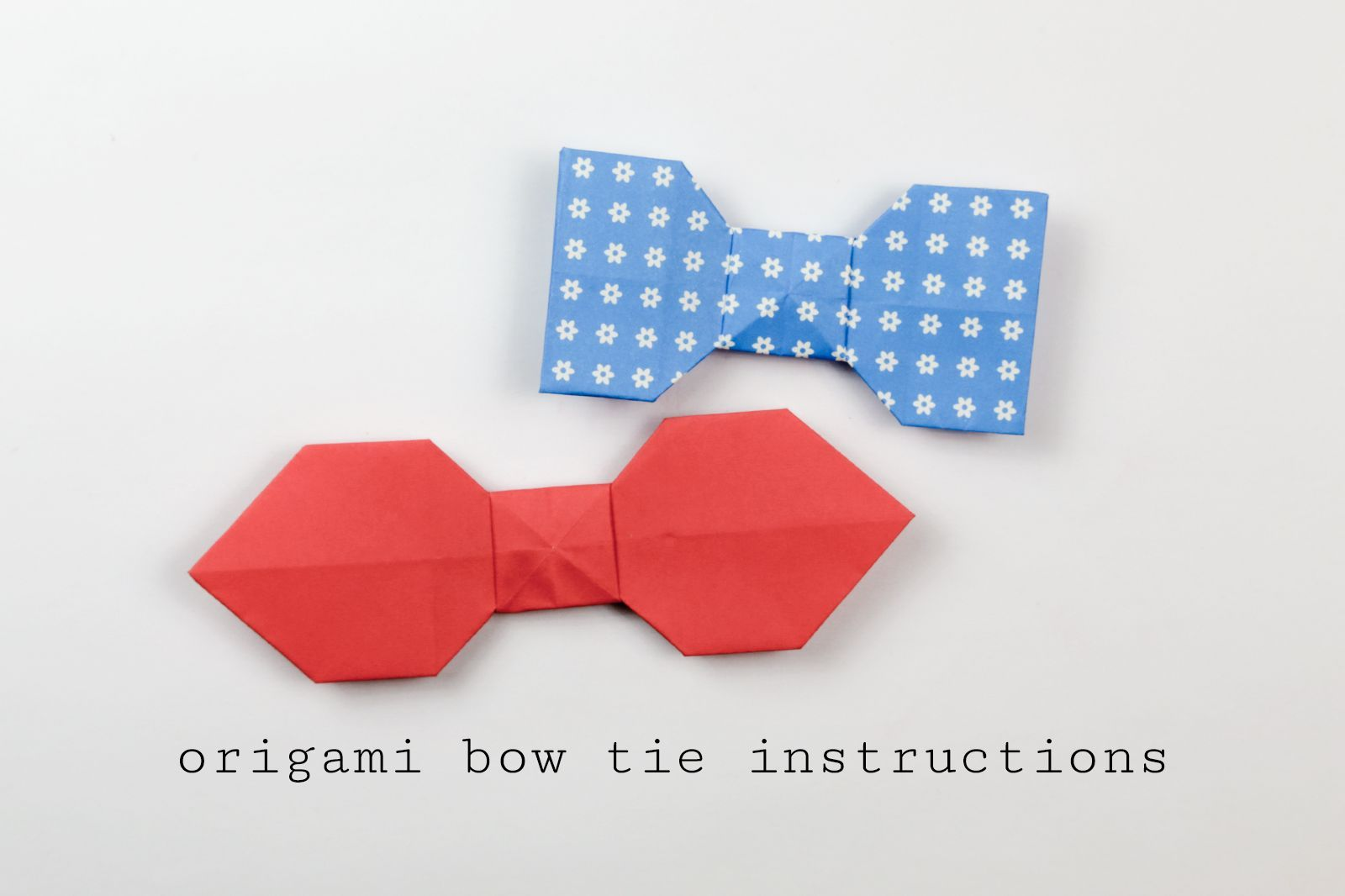 Learn How To Make An Easy Origami Bow Tie With These Follow Step By