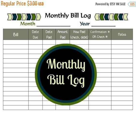 Do you have a difficult time keeping track of your monthly bills? Then this monthly bill log printable is your answer. It is a PDF bill payment: