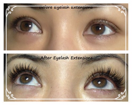 KT Lash Salon Eyelash extensions before and after