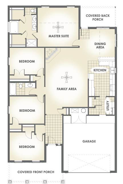 Ann 2 022 Square Feet Four Bedrooms Two Bathrooms House Plans Floor Plans Garage Bedroom