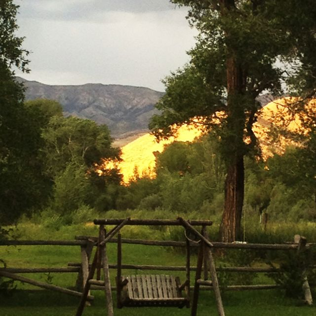 Sunset at the Lazy L & B ranch in Dubois, Wyoming breath taking
