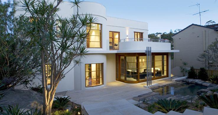 Art deco streamline modern landscape design art moderne house