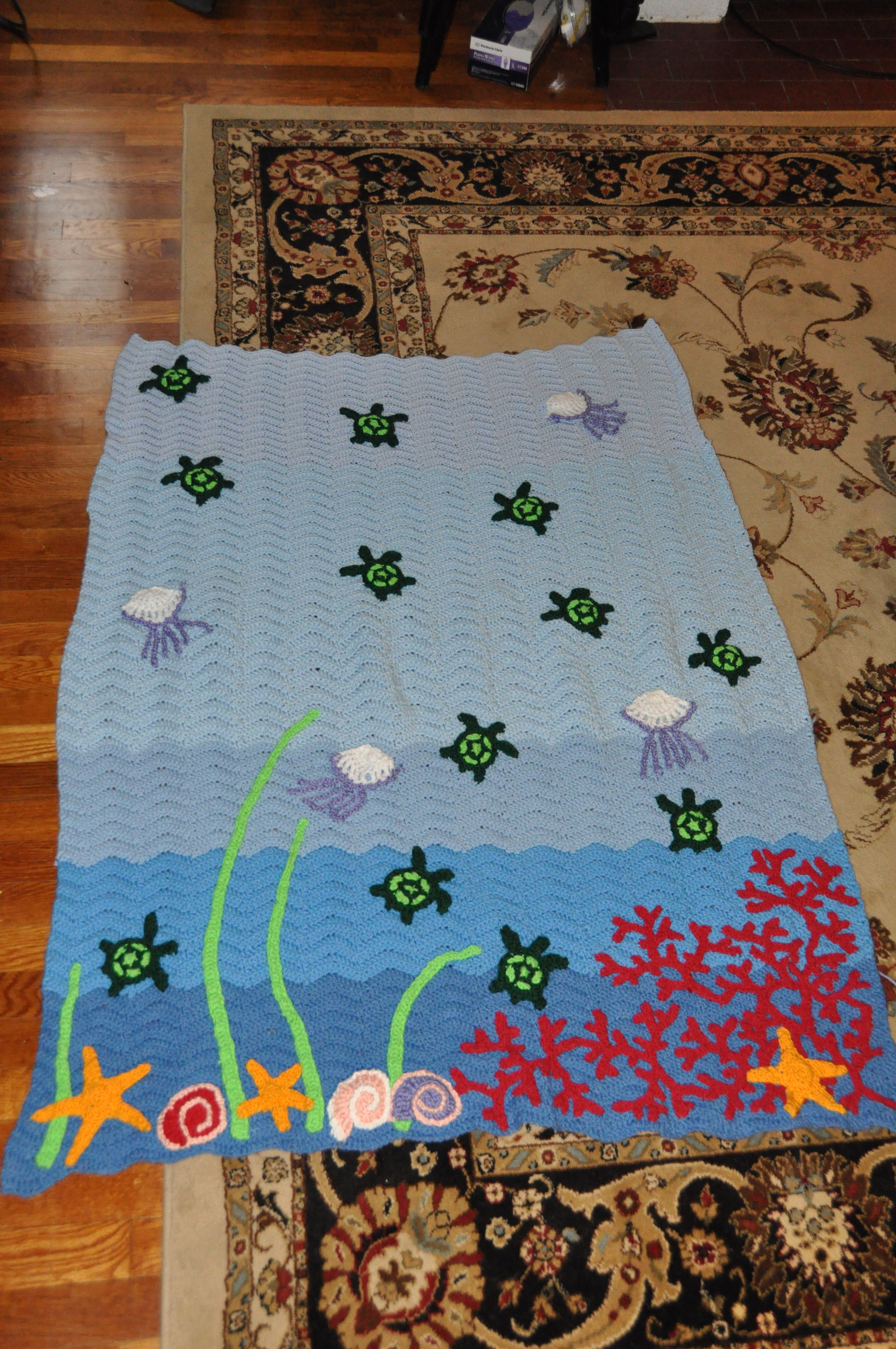 Crochet sea turtle and reef blanket crochet awesomeness crochet sea turtle and reef blanket bankloansurffo Image collections
